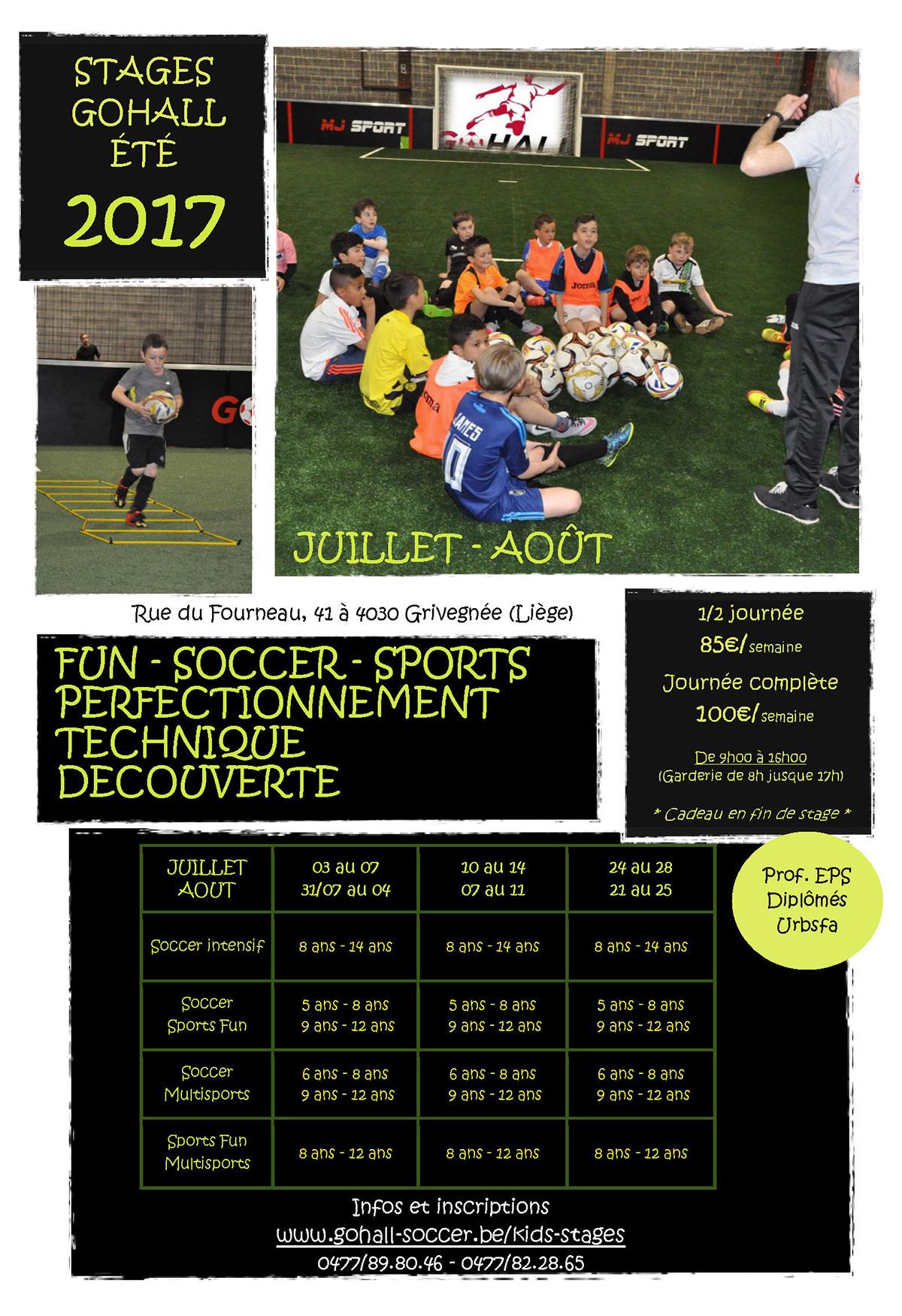GOHALL - stage enfants Vacances été 2017